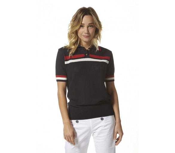AYEM / polo maille ajourée femme