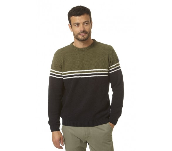 WILSON / Pull marin homme col rond tendance mode marine