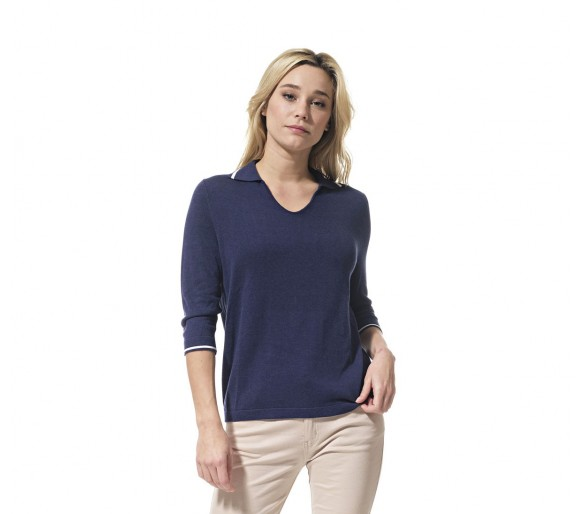 PENNY / Pull femme col vareuse