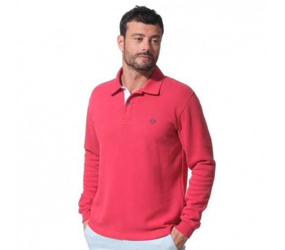 HUMBERT / Polo homme col boutonné