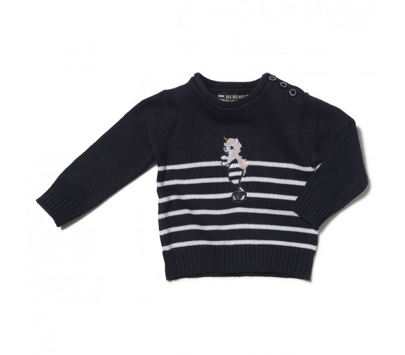Pulls Bebe : BRODILAY / Pull fille col rond