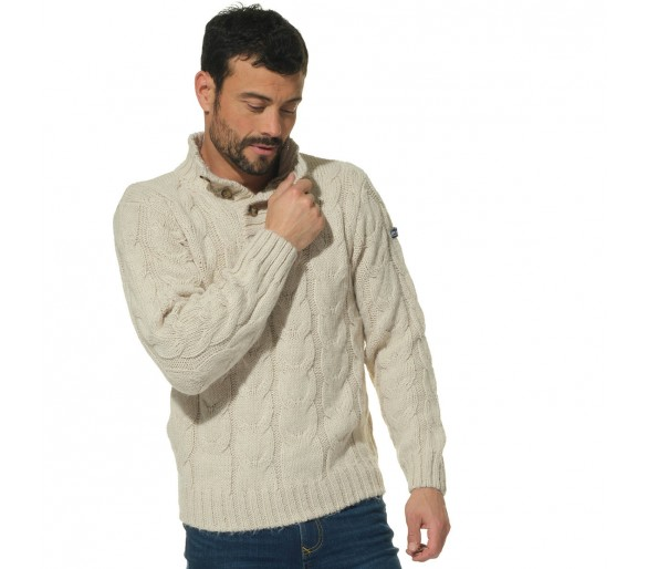 Pulls Homme Hublot Mode Marine : KOWAL / Pull homme col montant boutonné