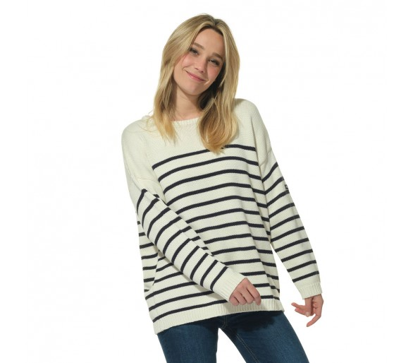 FOXY / Pull femme col rond oversize
