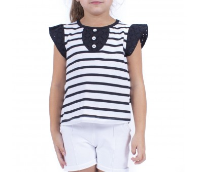 ZAZA / Tee shirt fille manches courtes